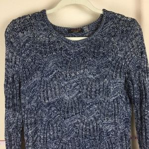 Fylo London Chunky Knit Sweater Crew Scoop Neck L